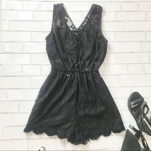 DO+BE Laced Rompers Black